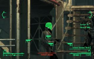 VATS: The VATS system pauses the action to let you take aim at a specific body part.